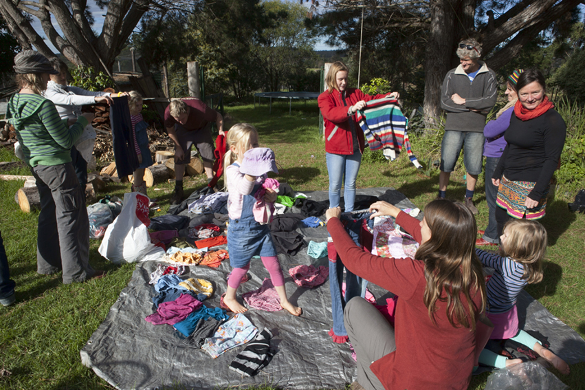 Pambula's Inaugural food and clothes swap.
