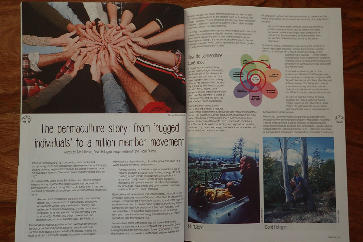 What is permaculture? David Holmgren gives us the back story in the first issue of Pip Magazine.