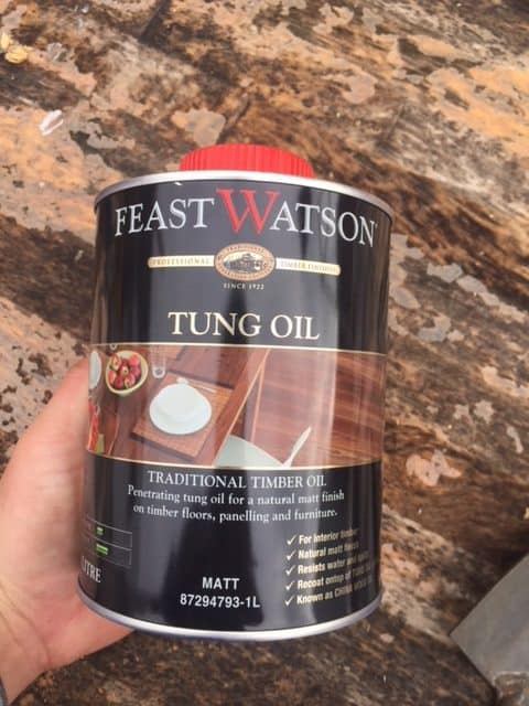 cleaning garden tools with tung oil