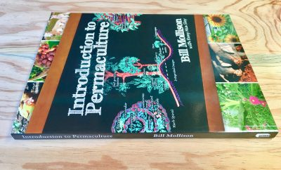 Side view of Introduction to Permaculture By Bill Mollison with Reny Mia Slay