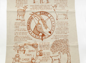 Goat Tea towel