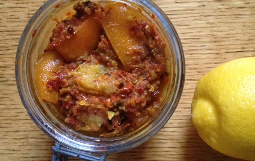 Spicy Indian Lemon Pickle