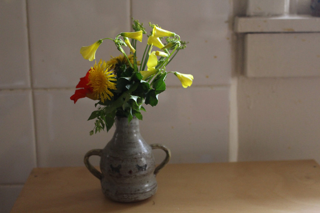 spring weed foraging bouquet