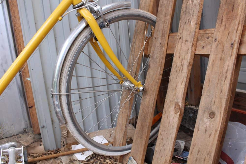 DIY Pallet Bike Rack