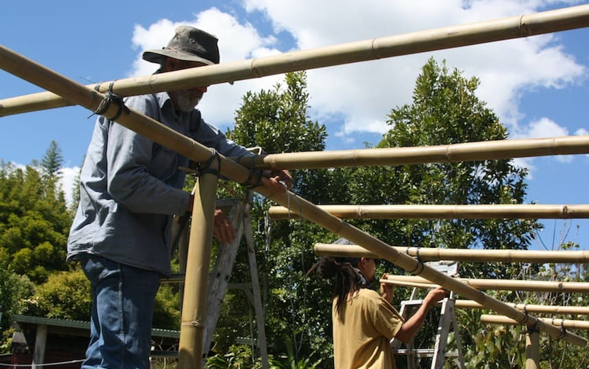 Constructing with bamboo