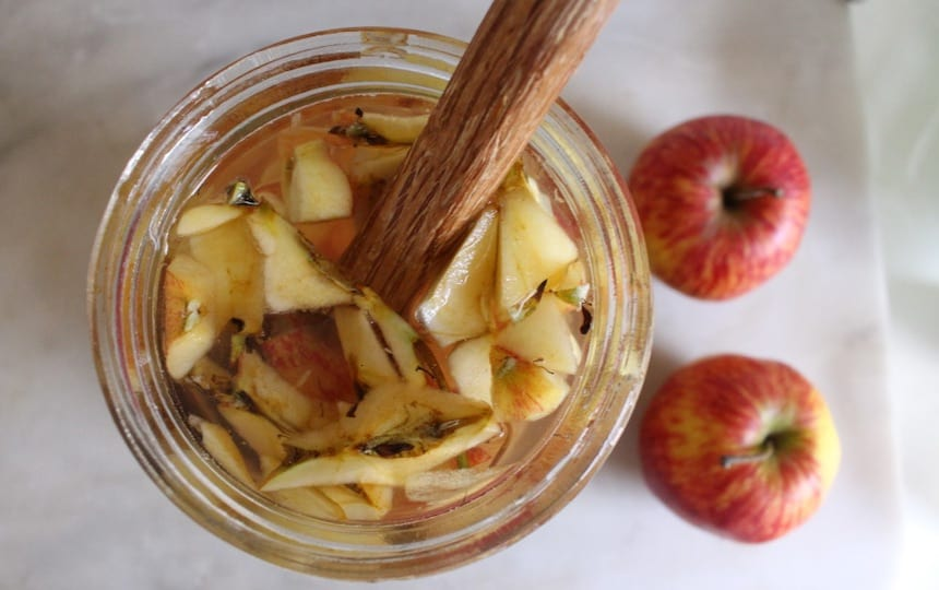 cleaning with apple scrap vinegar