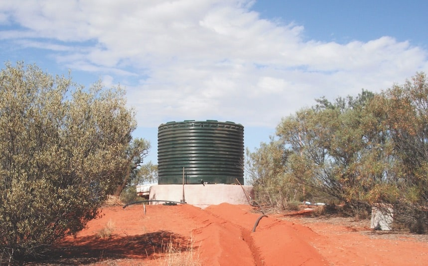 earthbag construction water tank